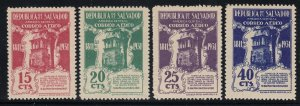 El Salvador 1931 120th Anniversary Set M Mint. Scott C20-C23