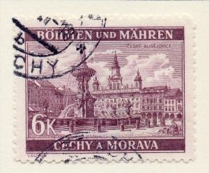 Germany Czechoslovakia 1940 Early Issue Fine Used 6k. 116465