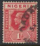 Nigeria  SG 16b Used  Die II  1925 issue please see scan