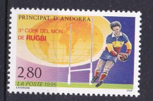 Andorra-French 447 MNH 1995 Rugby Cup Championships