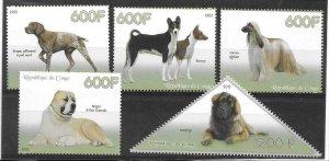 2014   CONGO  -  DOGS  -  MNH