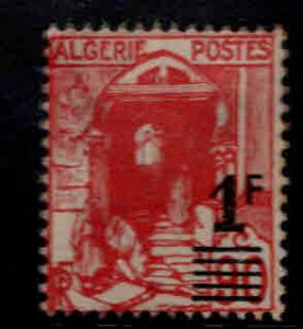 ALGERIA Scott 131 MH*  type 1 surcharged stamp toned at top