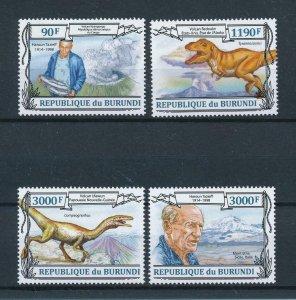 [105491] Burundi 2013 Prehistoric animals dinosaurs vulcano t-rex  MNH