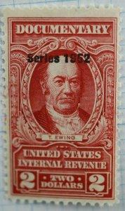 US Sc#R602 Internal Revenue Documentary $2 MNH