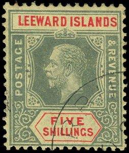 Leeward Islands Scott 57 Variety 2 Gibbons 57c Used Stamp