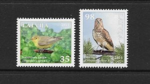 BIRDS - LATVIA #790-1  MNH