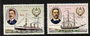 Angola 527-8 MNH Navy Club, Warships