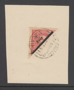 Macao Sc 159 diagonal bisect on cover fragment, VF