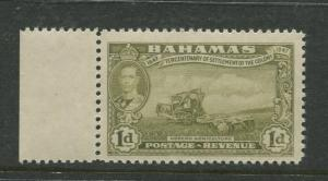 Bahamas - Scott 133 - KGVI Definitive Issue-1948- MNH -Single 1d Stamp