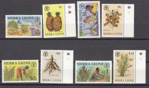 J27191 1983  sierra leone set mnh #623-30 crops farming