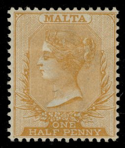 MALTA QV SG19, ½d red-orange, M MINT. Cat £18.