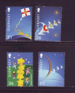 Guernsey Sc 709-12 2000 Europa stamp set mint NH