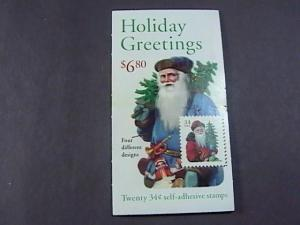 U.S.# 3541-3544- BK286-MNH--COMBO BOOKLET OF 20--HOLIDAY GREETINGS---2001