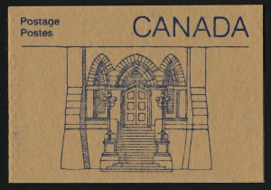 Canada 1187a Booklet BK96a Library Door Cover MNH Parliament Buildings