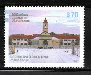 #10037 ARGENTINA 2021 RIO GRANDE CITY CENTENARY,ARCHITECTURE,CHURCH,RELIGION MNH