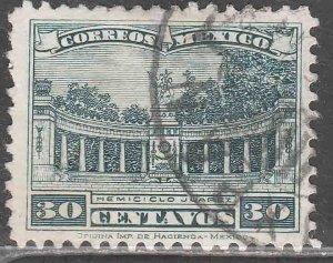 MEXICO 692, 30¢ JUAREZ MONUMENT. USED. F-VF. (713)