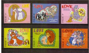 Disney - Palau -1996 - Sweethearts - 6 Singles MNH