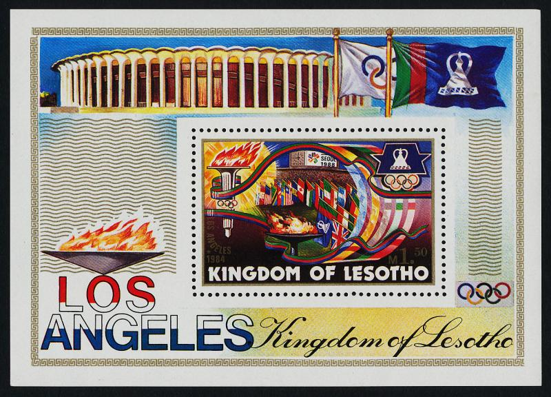 Lesotho 444 MNH Olympic Flags, Olympic Flame