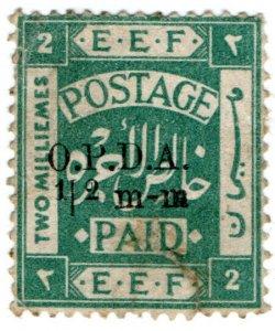 (I.B) Palestine Revenue : Ottoman Public Debt ½mm on 2m OP (OPDA)