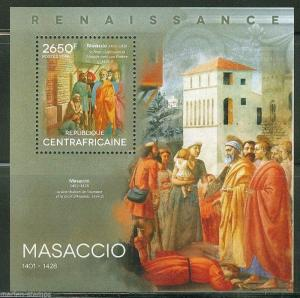 CENTRAL AFRICAN REPUBLIC 2014 ART MASACCIO SOUVENIR SHEET
