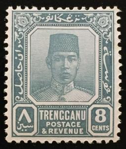 Malaya 1938 Trengganu Sultan Sulaiman 8c MLH SG#34 CV£50 M2208