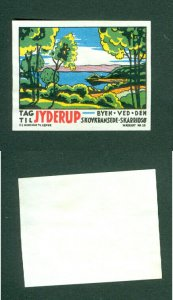 Denmark.  Poster Stamp 1950s. Local.Town: Jyderup.The Town With Skarredso Lake