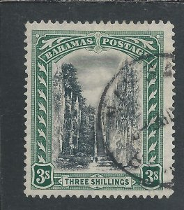 BAHAMAS 1911-1919 3s BLACK & GREEN FU SG 80 CAT £55