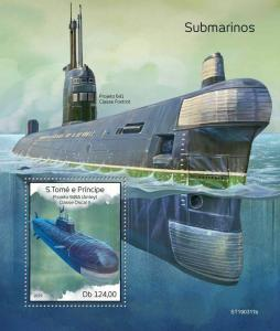 Z08 ST190311b Sao Tome and Principe 2019 Submarines MNH ** Postfrisch