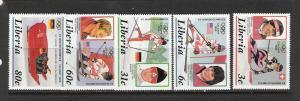 LIBERIA 1049-53 MNH CALGARY '88 OLYMPICS P324