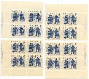 Canada - 1962 5c Jean Talon Plate Blocks mint #398