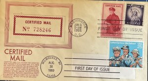 HNLP Hideaki Nakano CSA FA1 Certified Mail 2420 Letter Carrier Double 1st Day