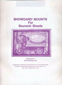 Showgard Stamp Mount Master Pack II 76-171 mm - BLACK (Pk of 15) ASSORTED STRIPS