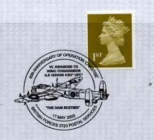 Postmark - Great Britain 2003 cover for 60th Anniversary ...