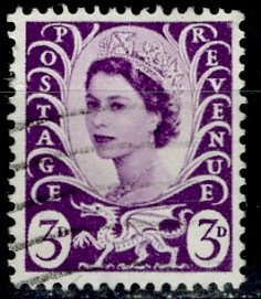 Great Britain, Regional, Wales; 1958: Sc. # 1: O/Used Single Stamp