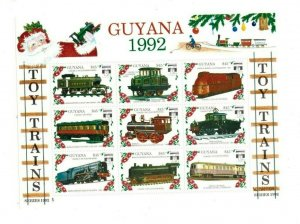 Guyana MNH S/S 2622 Toy Trains  1992
