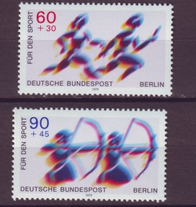 J24965 JLstamps 1979 germany berlin set mnh #9nb157-8 sports