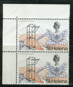 ST. HELENA; 1968 early QEII Pictorial issue fine MINT MNH Corner Pair, 1/2p