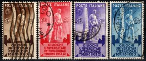 Italy #306-9  F-VF Used CV $8.50  (X1315)