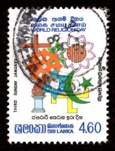 Sri Lanka 1985 World Religion Day 4.60r Scott.742 Used (#3)