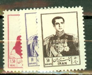 P: Iran 999-1009 mint CV $70; scan shows only a few