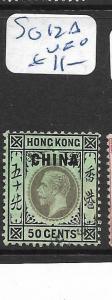 HONG KONG CHINA  (P2305B)  KGV 50C  SG 12A   VFU