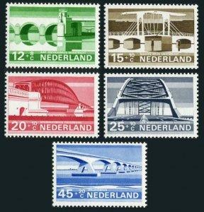 Netherlands B434-B438,hinged. Michel 894-898. Bridges 1968.