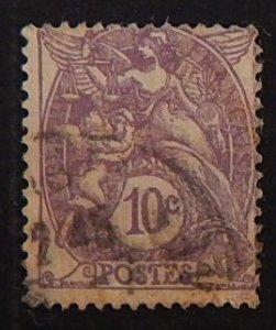 France, 10 cents, Liberty, Equality, Fraternity, 1929, SC #115A16, (2153-Т)