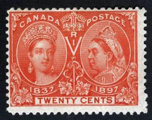 CANADA 59 Jubilee 20¢ Original Gum Hinged
