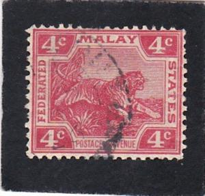 Federated  Malay States #  44    used