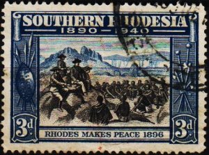 Rhodesia(Southern). 1940 3d S.G.57 Fine Used