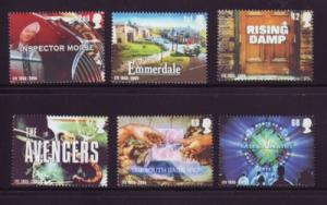 Great Britain Sc 2308-13 2005 TV Shows stamp set mint  NH