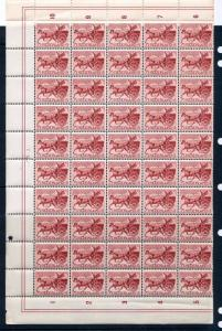 NETHERLANDS 1943 Horse Carriage MNH Block of 50 Stamps (You117)