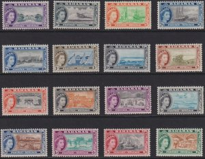1954 Bahamas QE Queen Elizabeth complete set MNH Sc# 158 / 173 CV $86. Stk #3
