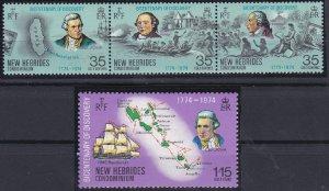 New Hebrides - British Issues 189-192 MNH (1974)
